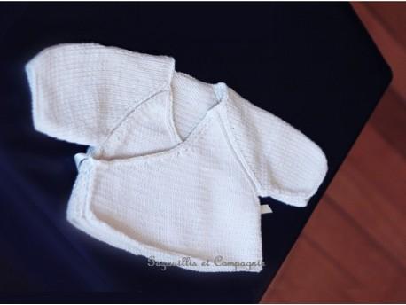 Kit-à tricoter-brassière de naissance