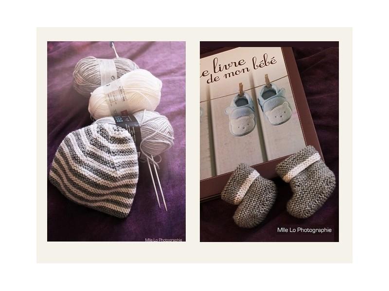 kit tricot chausson