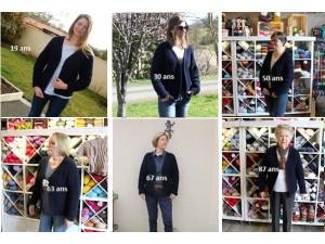 """Tutoriel veste """"Intergénérationnelle"""" DIY tricot gratuit sur notre blog"""