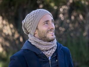 Kit- Tricot- Bonnet et snood-Free Style pour homme-Vos doigts ont la parole