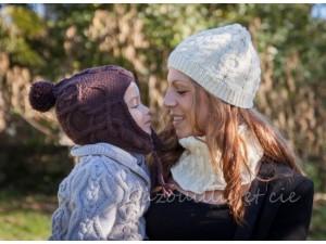 Bonnet point Irlandais- Chocolat -Vos doigts ont la parole