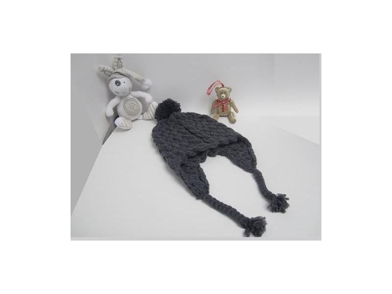 8e685627f3a0 Bonnet péruvien Ardoise à tricoter en point de torsades