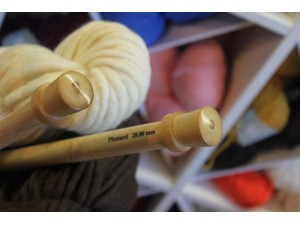 Aiguilles à tricoter en Bambou 40 cm