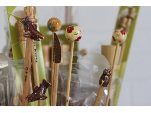 Aiguilles à tricoter en Bambou 35 cm