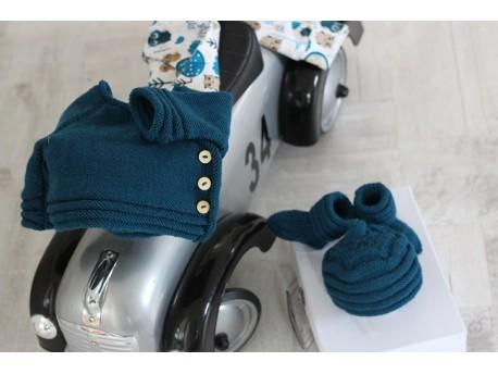 Kit à tricoter ensemble bébé Indigo