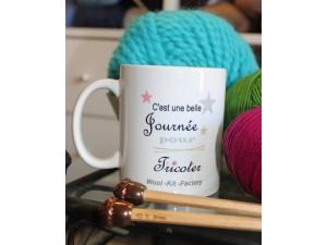 """Mug Tricot """"C'est une belle journée pour tricoter"""""""