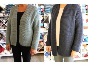 Tutoriel tricot gratuit- Gilet femme spécial débutante