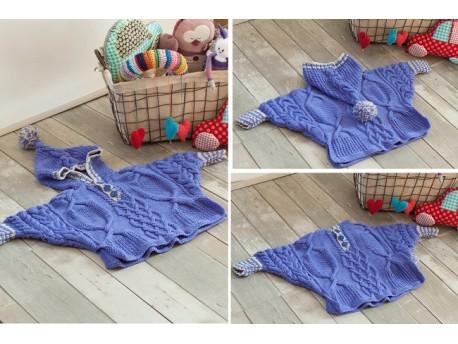Kit-à tricoter-pour bébé- Poncho chauve souris-Vos doigts ont la parole -