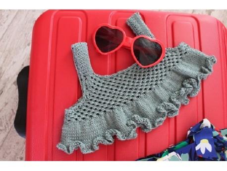 Granité, le top d'été tricoté en coton pour fillette