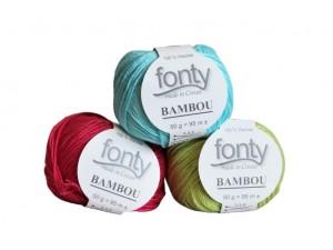 fil à tricoter en fibre de Bambou_fonty