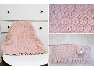 Kit à tricoter couverture berceau