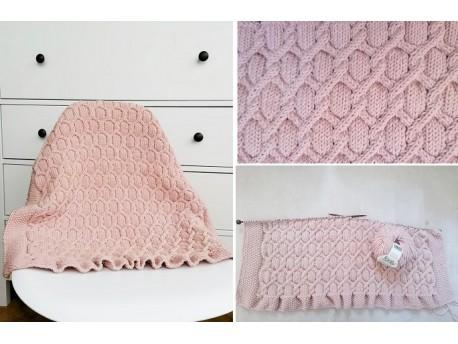 Rose Poudré Kit à tricoter couverture berceau