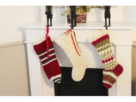 Tutoriel gratuit pour tricoter trois chaussettes de l'Avent