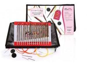 set d'aiguilles circulaires interchangeables Deluxe Symfonie Knit Pro
