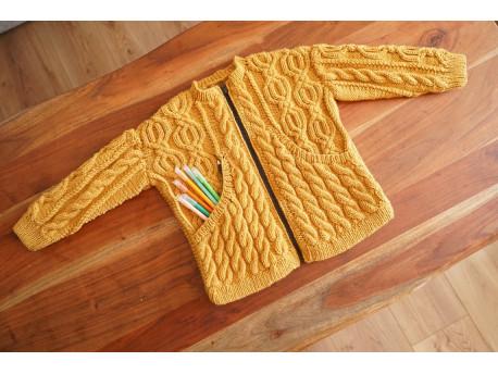 Veste à tricoter pour enfant _De zip et de laine_ rentrée 21_22